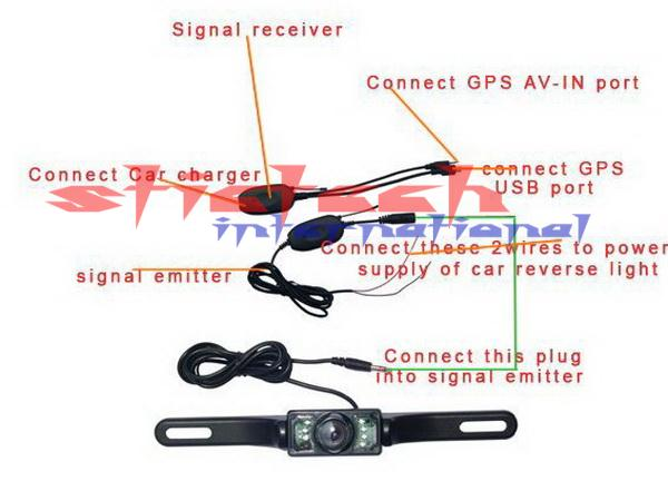 DHL или FedEx 50 штук 7 дюймов Автомобильный gps-навигатор Bluetooth AV-IN с беспроводная камера заднего вида