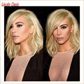 NEW Arrivals 7a Soft Human Hair Bloned Bob Wigs Full Lace Brazilian Virgin Hair Glueless Blonde Lace Front Wig Bob Straight #613