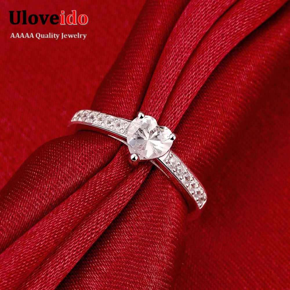 Silver Plated Fashion Simple Anniversary Ladies Ring Love for ...
