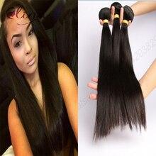 Free Shipping Wholesale Unprocessed Brazilian Virgin Hair Straight 3PCS 9A Grade Brazilian Virgin Hair Human Hair Weave Bundles