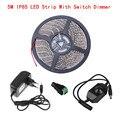 Led Strip Light 2835 SMD 12V 5M Diode Tape With 12V 2A Power Supply Switch Dimmer Full Set Fita Led