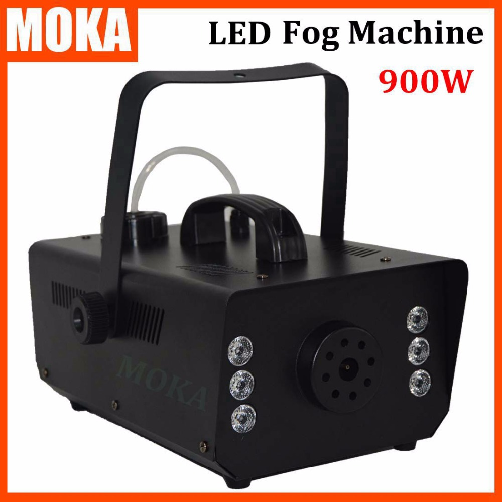 Cheap new LED 900W Fog Machine/Smoke Machine/Fogger professional stage lighting DJ equipment Smoke maker 1500w mist haze machine 3 5l fog machine dmx512 smoke machine dj bar party show stage light led stage machine fogger