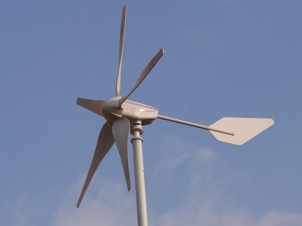 Générateur d'éolienne 1200 W 48 V avec 5 lames, vitesse de vent à faible démarrage avec Certification RoHS CE ISO9001