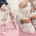 2016 lolita harajuku tights girls summer japanese tattoo 2 color pantyhose print kawii female tight