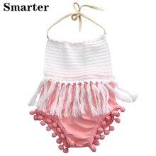 Newborn Toddler Baby Girls Sleeves Brushes Belt Sliders Cotton Back Halter Overalls Technics Clothing