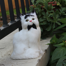 Latex Design Home Decoration Items Mini Cat Figurine Fur Toy