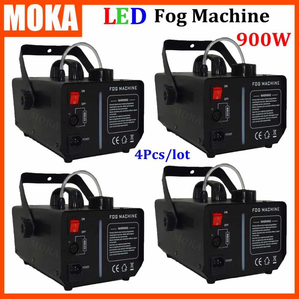 4 pcs/lot 900w Stage Effect Machine remote or wire control smoke machine heater stage fog machine high quality Fast Shipping гибкий кабель для мобильных телефонов for apple 20pcs lot usb flex ipad 2 ipad 6 dhl ems air 2