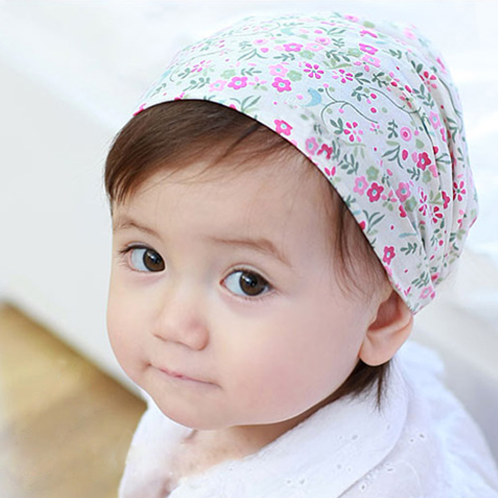 Children Floral print scarf rabbit ears headband headdress headscarf girl cute hair headwear