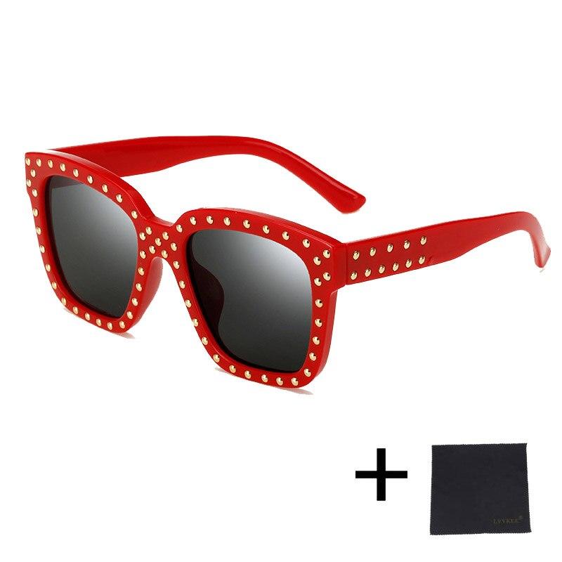 dd70f6272c8c new Korea Oversized Cat Eye Sunglasses Women Vintage Men Rivets Brand  Designer Handmade Woman ce Optional packaging 58013