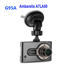 Free Shipping!! Ambarella A7LA50 Car DVR Video Recorder G95A Full HD 2304*1296 30fps 2.7″LCD HDR+G-Sensor H.264 Dash Cams
