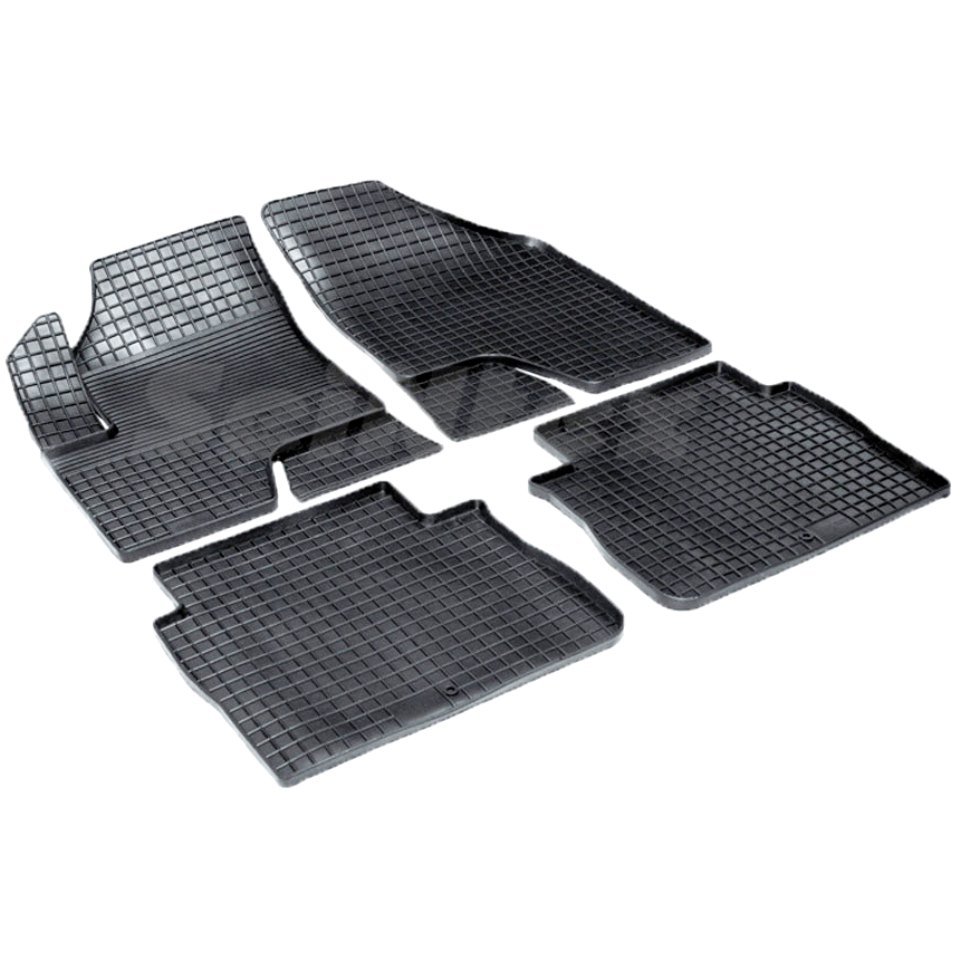 Rubber grid floor mats for Hyundai Santa Fe II 2006 2007 2008 2009 Seintex 00617 наклейки для мотоцикла oem 5 cnc suzuki m109r 2006 2007 2008 2009