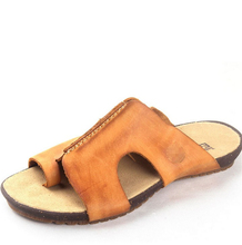 High-end European and American fashion summer shoes matte leather men's leather sandals and slippers