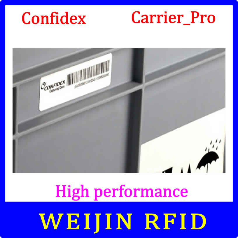 Confidex carrier Pro UHF RFID tag EPC C1G2 ISO18000-6C washable label with strong adhesive for plastic container 1000pcs long range rfid plastic seal tag alien h3 used for waste bin management and gas jar management