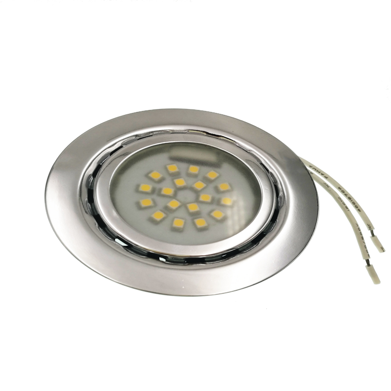 1.5W 12V LED Spot Light Recessed Spotlight Cold Warm White Steel Kitchen Cabinet Closet Display Case Down Lamp