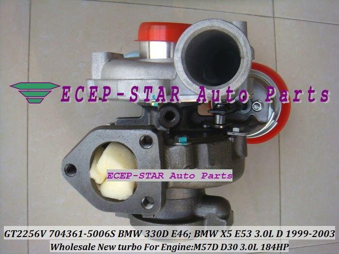 GT2256V 704361-5006S TURBINE Turbo Fit For bmw 330D E46 X5 3.0D E53,EngineM57D D30 3.0L 184HP 1999-2003 Turbocharger (1)