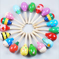 Baby Kids Sound Music Gift Toddler Rattle Musical Wooden Colorful Toys Random