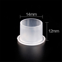 1000Pcs/Bag 14mm Clear Medium Tattoo Ink Cup Caps For Needle Tip Grip Power Supply With Bottom No Need Ink Cup Holder