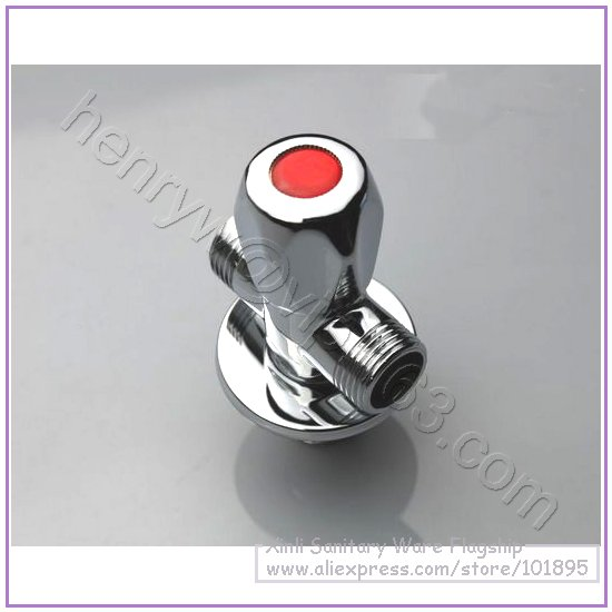 L15309-роскошный хромированный латунный материал 1 вход и 2 выхода углового клапана
