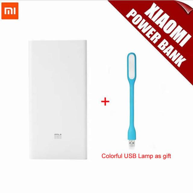 100% original xiaomi mi banco do poder 20000 mah portátil banco de energia móvel mi carregador 20000 mah dual usb para iphone6s andriod telefones