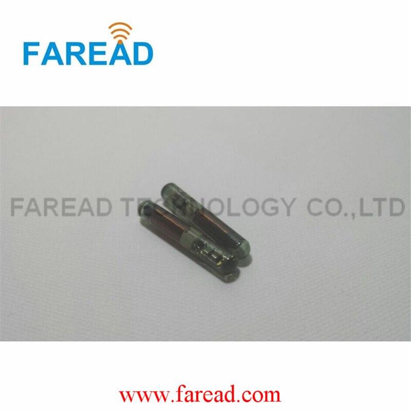 x50pcs  RFID Transponder  TI HDX,4*22/3.85*22.5mm  134.2Khz LF glass microchip  цена и фото