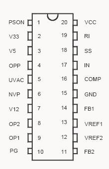 PWM régulateur 1PCS SG6105DZ SG6105D alimentation superviseur