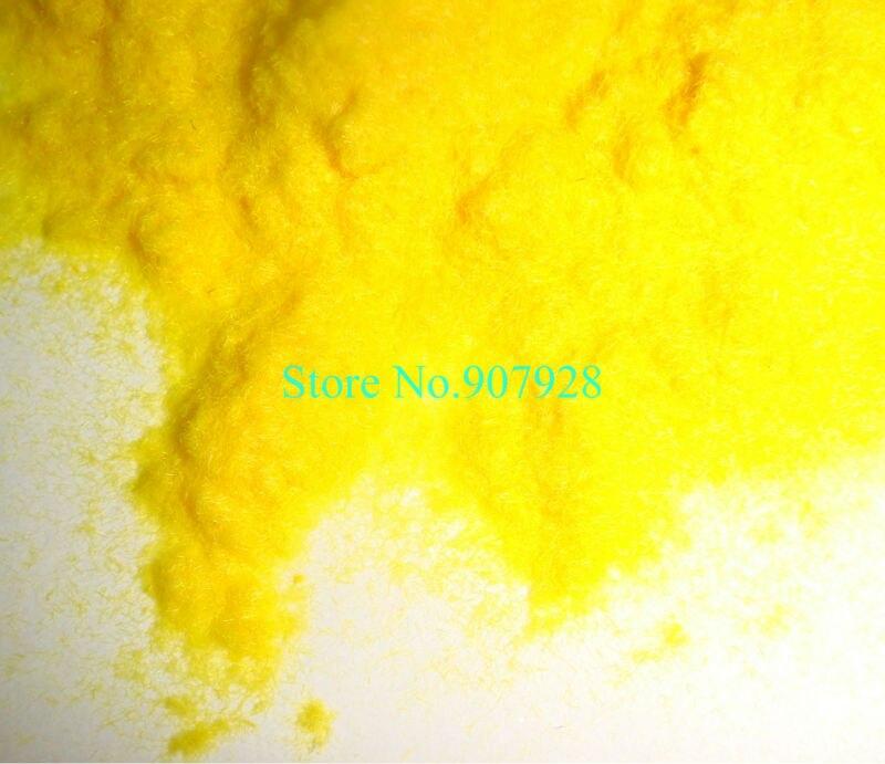 50 г/пакет x 3D Яркий желтый Флокированный вельвет порошок ворса порошок для ногтей искусство