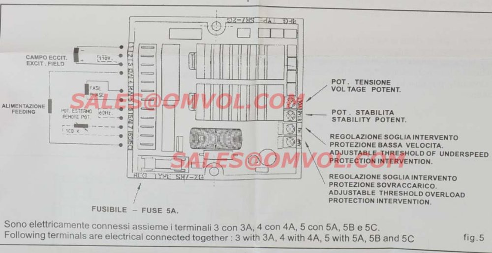 mecc alte spa avr sr7 avr sr7 2g in voltage regulators stabilizersmecc alte  spa wiring diagram