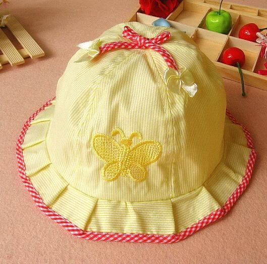 Sz Neonati Bambini Cotone Cappello Da Sole Farfalle Cute Baby