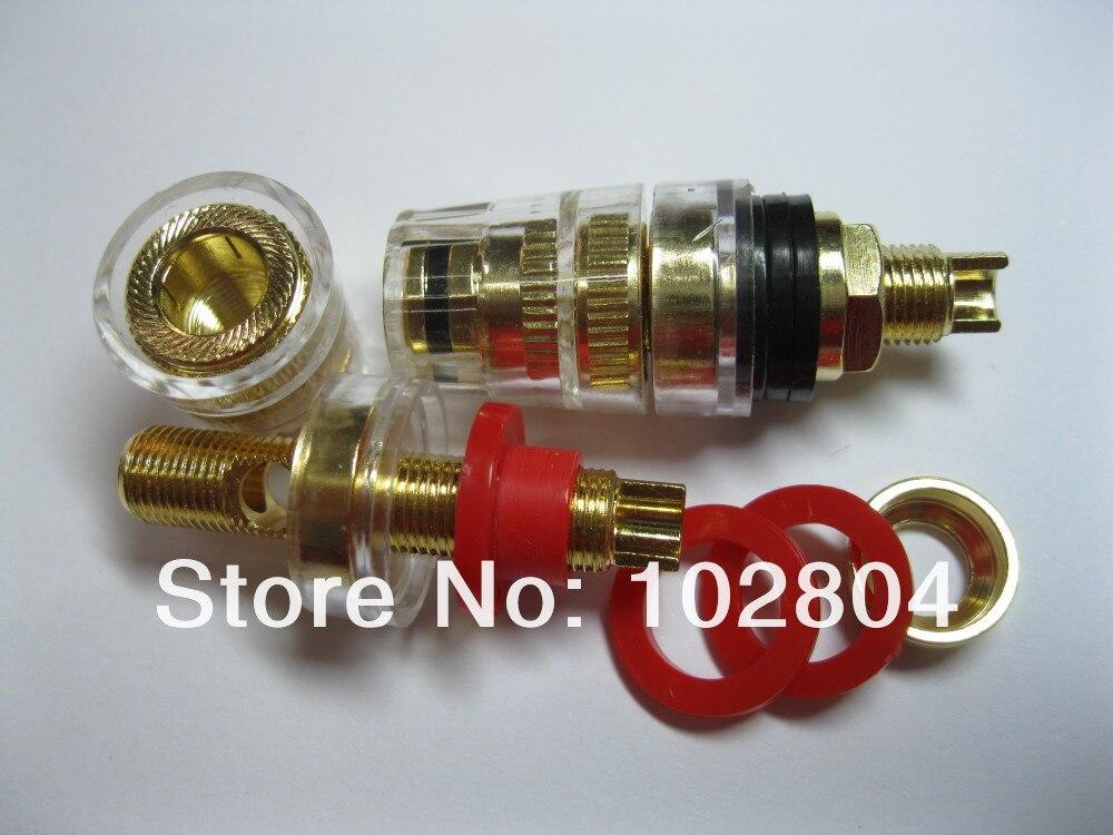 10 шт. аудио кабель для колонок переплет пост разъем позолоченный Тип припоя S 46 мм 2 цвета красный и черный Горячая распродажа высокое качество