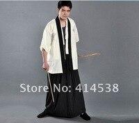 традиция pans для мужчин кимоно Samurai Ninja гунфу мужской Carnival костюм одежда белый фильм показать костюм