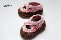 прекрасные Mile Walk ручной работы хлопок крючком туфли для новорожденных фотография узел подарок кофе бесплатная доставка