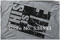 горячая бесплатная доставка мужчины 100% хлопок торфа с Корк рукавом 3д футболки свободного покроя улице это я Бенни пара футболка