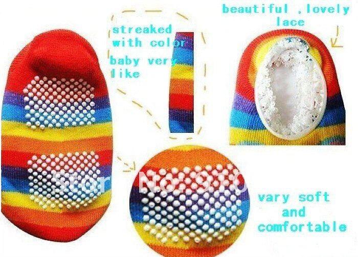 Стиль противоскользящие Детские носки-тапочки носки для малышей хлопчатобумажные носки для младенцев мальчиков и девочек подарок 30 пара/лот