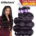 Unprocessed 9A Peruvian Virgin Hair body wave 4pcs lot 1b Free Shipping Peruvian body wave human hair weaves peruvian hair Sale