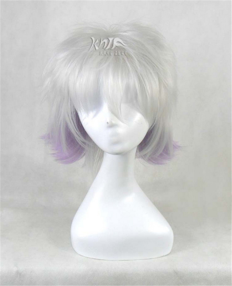 cosplay wig KARNEVAL black and purple Short straight hair Japanese anime characters Wig carnival HARAJUKU