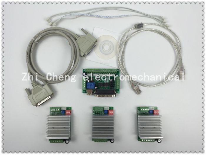 ЧПУ 3 оси комплект, TB6600 3 оси шагового двигателя котроллеру водитель 4.5A mach3 + один 5 оси коммутационная плата