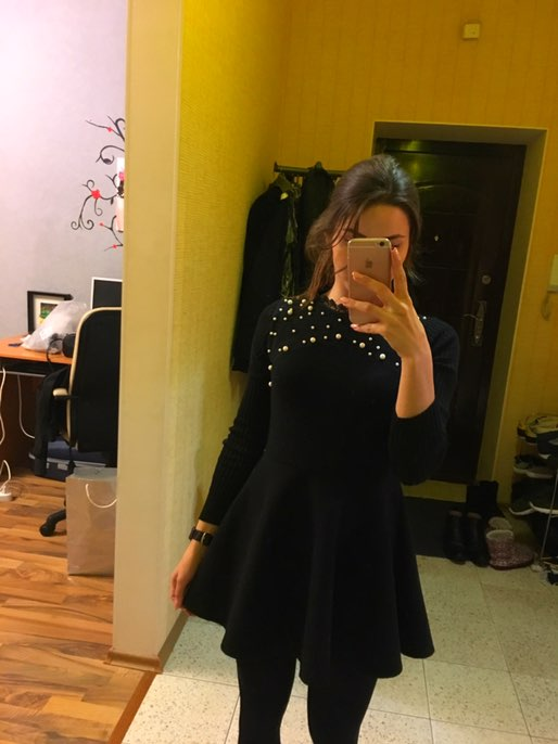 Крутое платье ! Качество супер! Только если рост больше 164 лучше не наклоняются ) уж очень коротко и соблазнительно