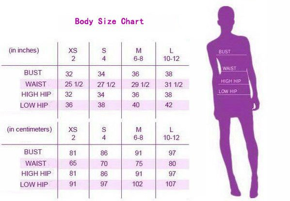 HL XS size Chart