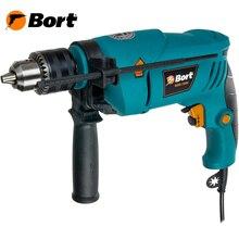 Дрель ударная Bort BSM-750U (Мощность 750 Вт, реверс, регулировка скорости, надежный ключевой патрон)