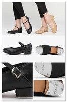 бесплатная доставка dttrol женщины мужская удобный гибкий кожа коровы танец нажмите обувь d004727