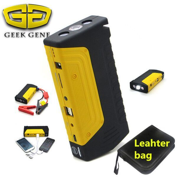Emergency Car Jump Starter 9000mAh Battery Charger 2 USB Mini Portable Multi-Function Power Bank + Safety Hammer Free Ship