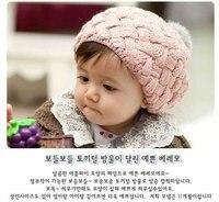 новый осень зима шляпа котелок стиль вязания крючком ребенка bore holes бесплатная доставка распродажа
