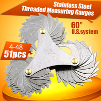4 48 Thread Plug Gage Stainless Steel American Screw Pitch 60 Degree Thread Measuring Gage Gauge