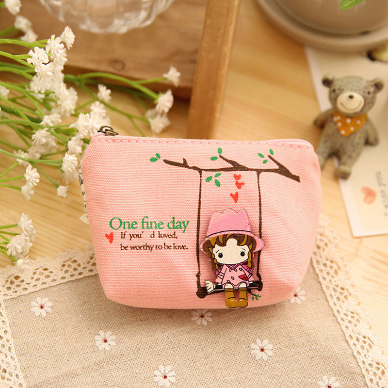 500pcs/lot Childrens gifts Unisex clutch Cartoon Cute girl coin purse small bag Ladies wallet mini women bag