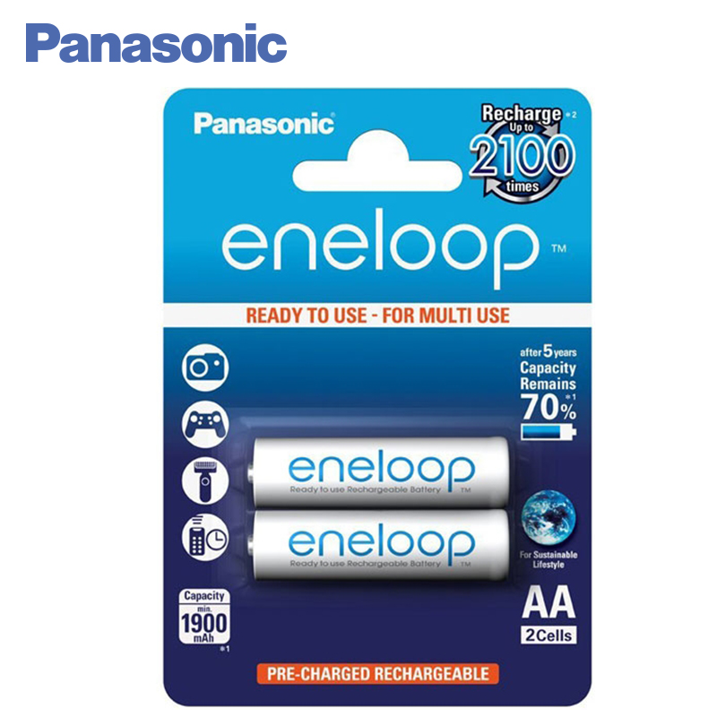 Panasonic BK-3MCCE/2BE Rechargeable Batteries eneloop 1900mAh AA R6 BL2