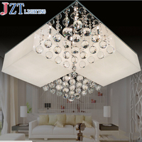 M Best Price Modern Creative Square Crystal Acrylic Ceiling Lamp Restaurant Corridor High Power LED Lustre