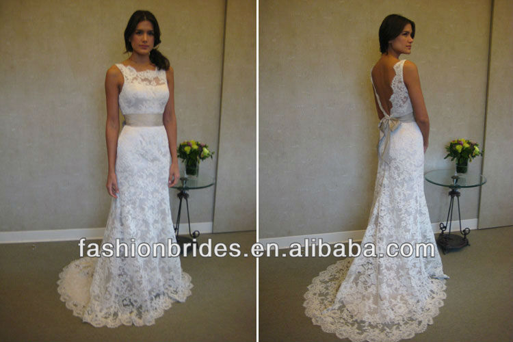 WA01000 Elegant Off The Shoulder Low Back Off White Lace Wedding Dresses In Wedding  Dresses From Weddings U0026 Events On Aliexpress.com | Alibaba Group