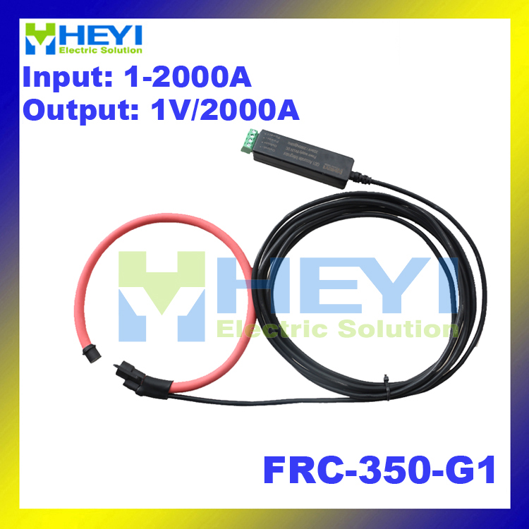 Red color Clamp-on designed instrument Rogowski Coil Input : 1~2000A Output : 1V flexible rogowski ct cope