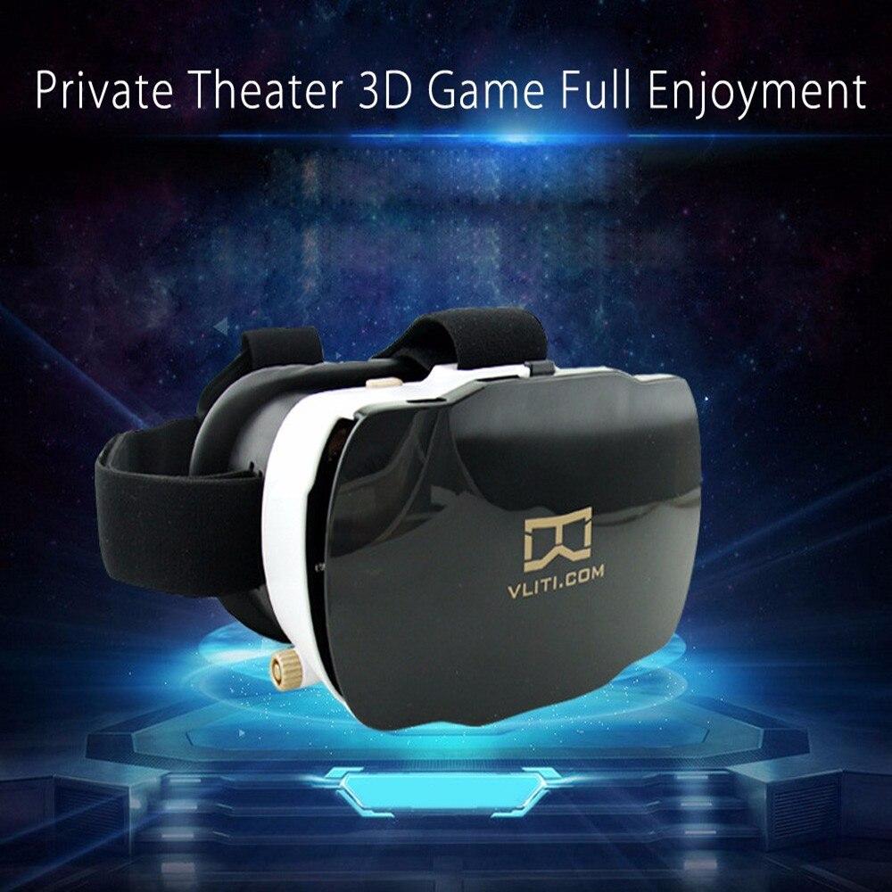 <font><b>VR</b></font> Case <font><b>Vliti</b></font> <font><b>Immersive</b></font> <font><b>OP</b></font> - <font><b>001</b></font> Virtual Reality 3D <font><b>VR</b></font> <font><b>Glasses</b></font> <font><b>Headset</b></font> Private Theater for 4.7 - 5.8 Inch Smartphone