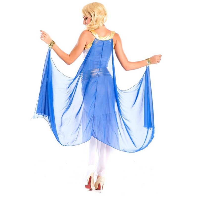 Costumes grecs femmes blanc Sexy indien déesse égyptienne robe de princesse arabe Costumes d'halloween Cleoptra reine Cosplay robe - 3
